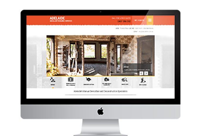 Web Design Melbourne Example Website